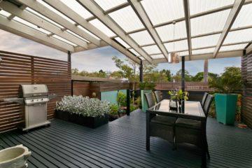 Aménagement d'une terrasse comme pour un intérieur