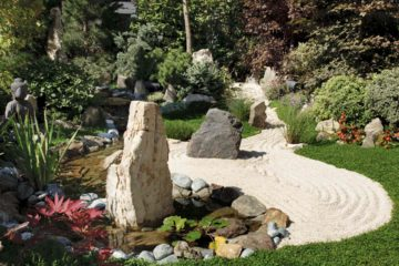 Aménagement d'un jardin japonais et zen