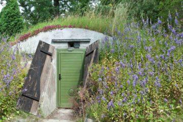 Abri souterrain, bunker installé sur une propriété