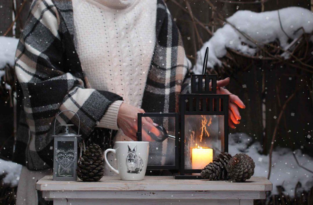 Décoration pour aménager un patio hivernal